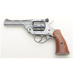 "H & R Sportsman Model 999 DA revolver, .22LR cal., 4"" barrel, blue finish, smooth wood medallion gri"