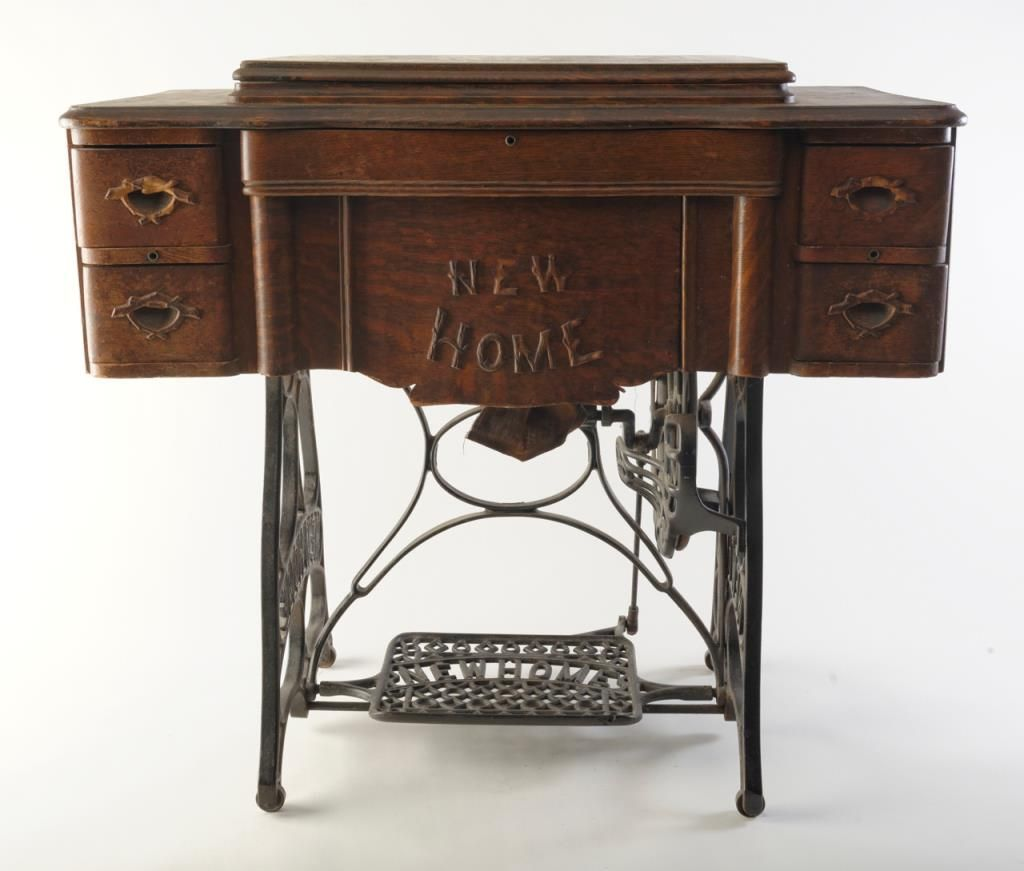 antique new home sewing machine value