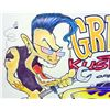 "Image 3 : ORIGINAL INK ""GREASY CUSTOMS"" PAINTING ON PAPER BY BEN MITCHELL - 17 X 11"