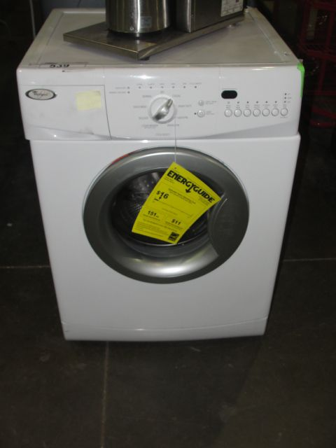 WHIRLPOOL WHITE APARTMENT SIZE FRONT LOAD WASHER