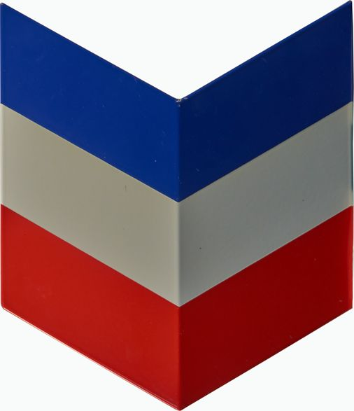 Chevron Red White Blue Gas Station Stripes Symbol