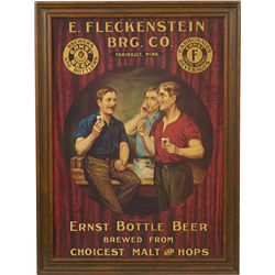 Ernst bottle beer cardboard advertisement in frame for Beer bottle picture frame