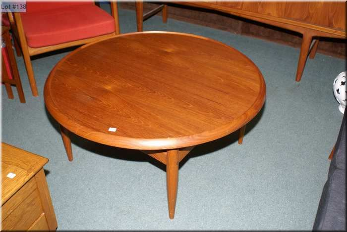 Image 1 : Round Teak Coffee Table With Reversible Top ...