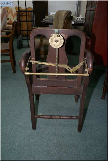 Image 1 : Antique wooden barber chair with reclining mechanism made by  Centrifical ... - Antique Wooden Barber Chair With Reclining Mechanism Made By Centrifical