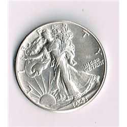 1941 Walking Liberty Half