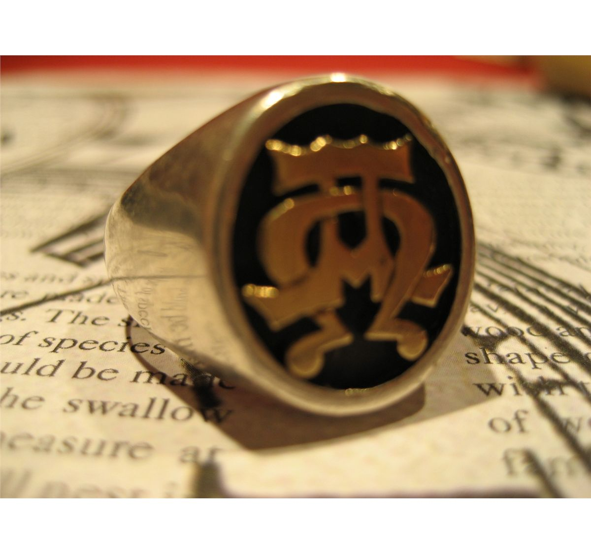 sterling silver 14 k gold james avery alpha omega mens ring