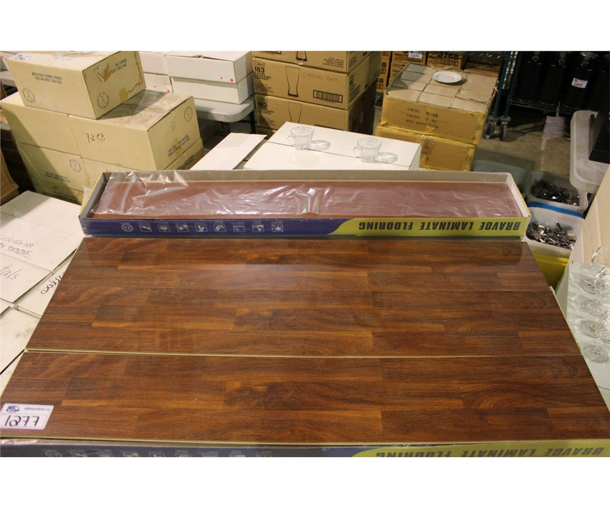 Image 2 Pallet Of Bravoe Brown Teak Laminate Flooring