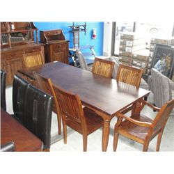 10pc Mahogany Dining Room Suite Table With Pull Out Leaf