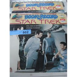 2x Star Trek Book and Record Sets