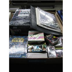 Large Box of Star Wars Cards, Pictures, etc