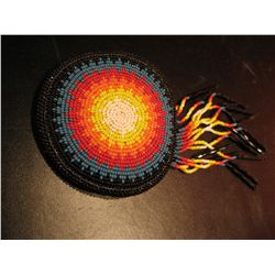 BEADED HANDMADE AMERICAN INDIAN PENDANT