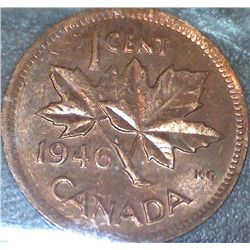 Canada - 1 Cent - 1946 - Red - ICCS - MS-63