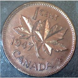 Canada - 1 Cent - 1947 - Red - ICCS - MS-64