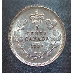 Canada - 5 Cents - 1902 - ICCS - MS-60