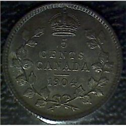 Canada - 5 Cents - 1904 - ICCS - MS-63