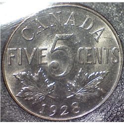 Canada - 5 Cents - 1928 - ICCS - MS-63