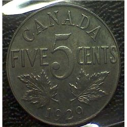 Canada - 5 Cents - 1929 - ICCS - MS-64