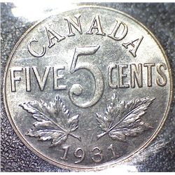 Canada - 5 Cents - 1931 - ICCS - MS-60