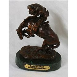 Frederic Remington Bronze Statue Reproduction - Rattlesnake
