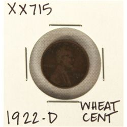 1922-D Wheat Cent XX715