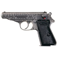 Engraved Pre-World War II Walther Commercial Model PP .22 Semi-Automatic Pistol