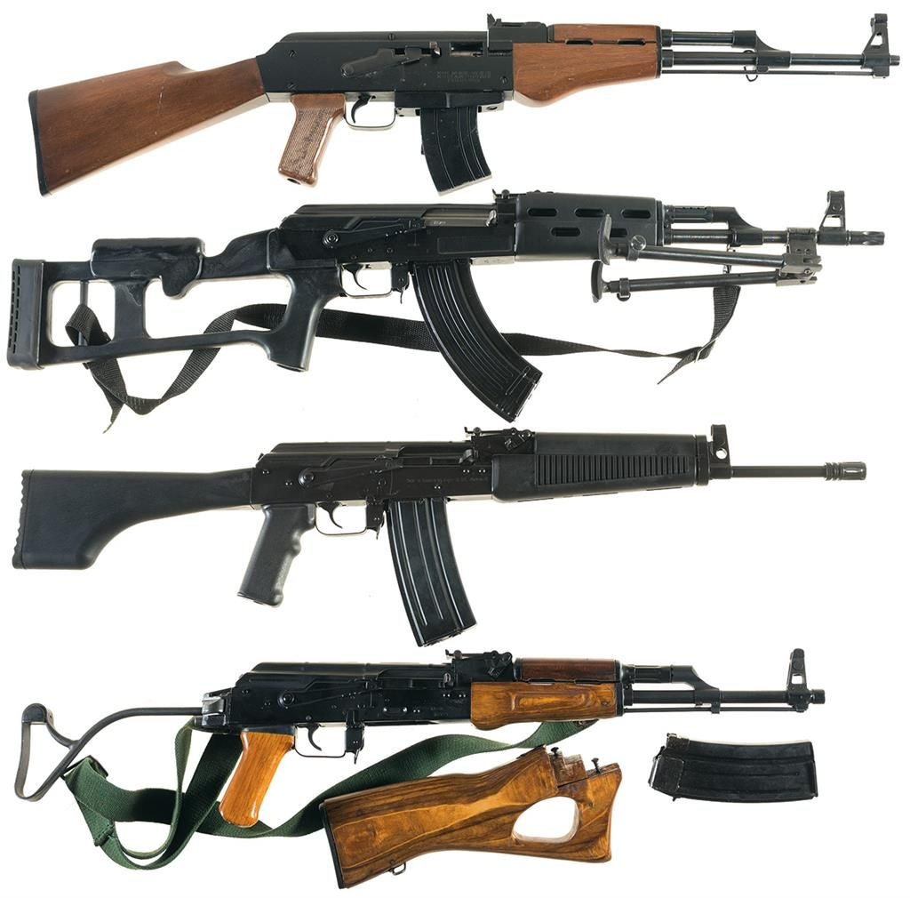 Four AK-47 Style Semi-Automatic Rifles -A) Arms Corp. of The ...