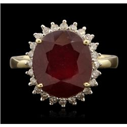 14KT Yellow Gold 8.23ct Ruby and Diamond Ring RM1853