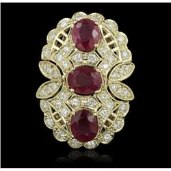 14KT Yellow Gold 7.69ctw Ruby and Diamond Ring A5151