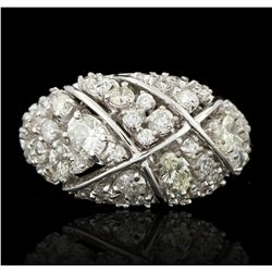 14KT White Gold 0.92ctw Diamond Ring A6001