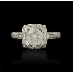 14KT White Gold 1.24ct Diamond Ring A4739