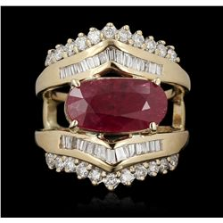 14KT Yellow Gold 3.27ct Ruby and Diamond Ring GB3551
