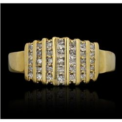 10KT Yellow Gold 0.25ctw Diamond Ring FAA67