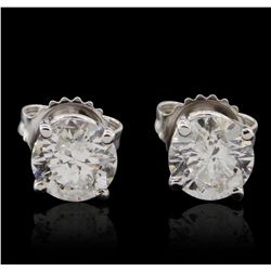 14KT White Gold 1.99ctw Diamond Stud Earrings GB4703