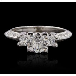 14KT White Gold 1.54ctw Diamond  Ring GB4680