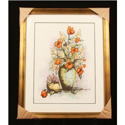 "Framed Lithograph L/E S/N ""Violets & Such"" by Tom Wood ED722"