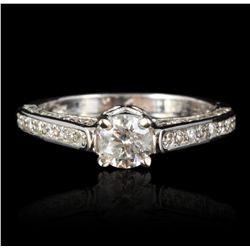 14KT White Gold 1.05ctw. Diamond Ring RM1189