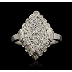 14KT White Gold 1.10ctw Diamond Ring GB2998