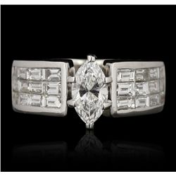 18KT White Gold 0.71ct GIA Certified Diamond Ring GB3491