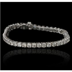 14KT White Gold 7.49ctw Diamond Tennis Bracelet A5392