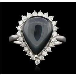 14KT White Gold 11.67ct Blue Star Sapphire and Diamond Ring RM1439