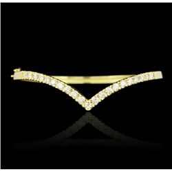 14KT Yellow Gold 1.30ctw Diamond Bracelet GB1835