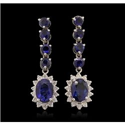 14KT White Gold 5.16ct Sapphire and Diamond Earrings RM1522