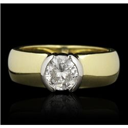14KT Yellow Gold 0.75ct Diamond Solitaire Ring GB2762
