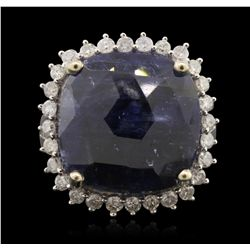 14KT White Gold 15.06ct Sapphire and Diamond Ring RM1837