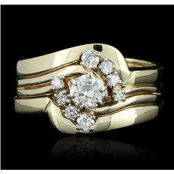 14KT Yellow Gold 0.60ctw Diamond Ring GB2446