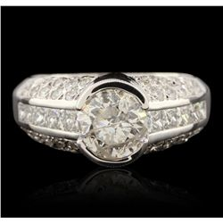 14KT White Gold 2.90ctw Diamond Ring GB4545