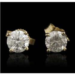 14KT Yellow Gold 1.06ctw Diamond Stud Earrings GB4588
