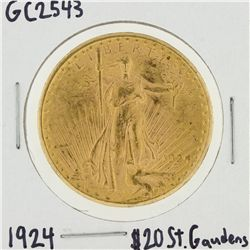1924 $20 St. Gaudens Double Eagle Gold Coin GC2543
