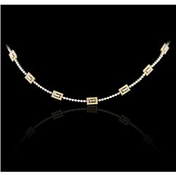 18KT White Gold 1.96ctw Diamond Necklace GB4315