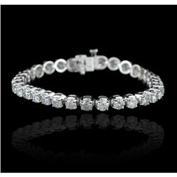 14KT White Gold 11.56ctw Diamond Tennis Bracelet A5789